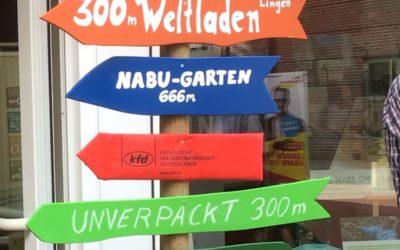 Sch(l)aufenster der Fair Trade Town Lingen